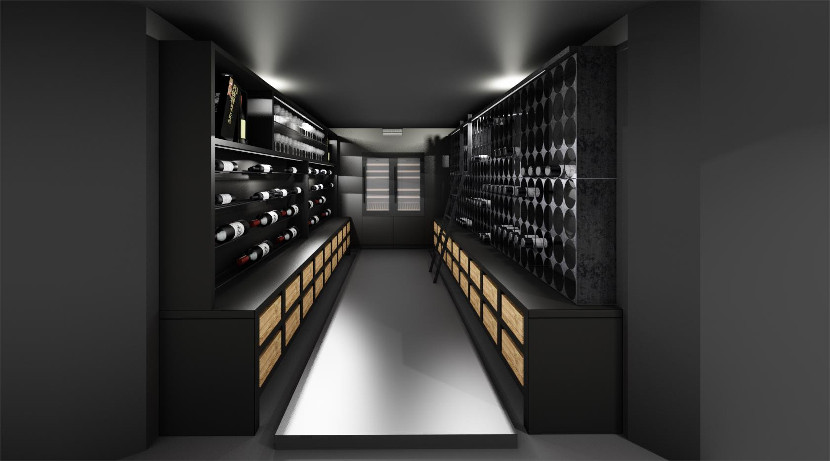 Custom made Wine Cellar Designs from IG Kitchens