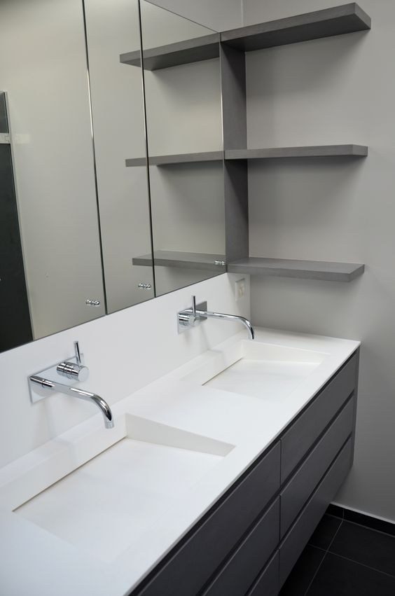 Custom bathroom vanity by IG